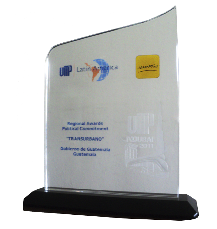Premio UITP Proyecto De Recaudo Eletrónico Ciudad de Guatemala